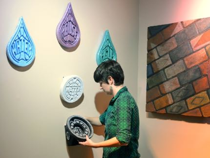 """""""Water Works"""" Being Installed by Whitney Broadaway"""