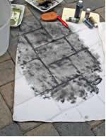 Black Sponged on Paper